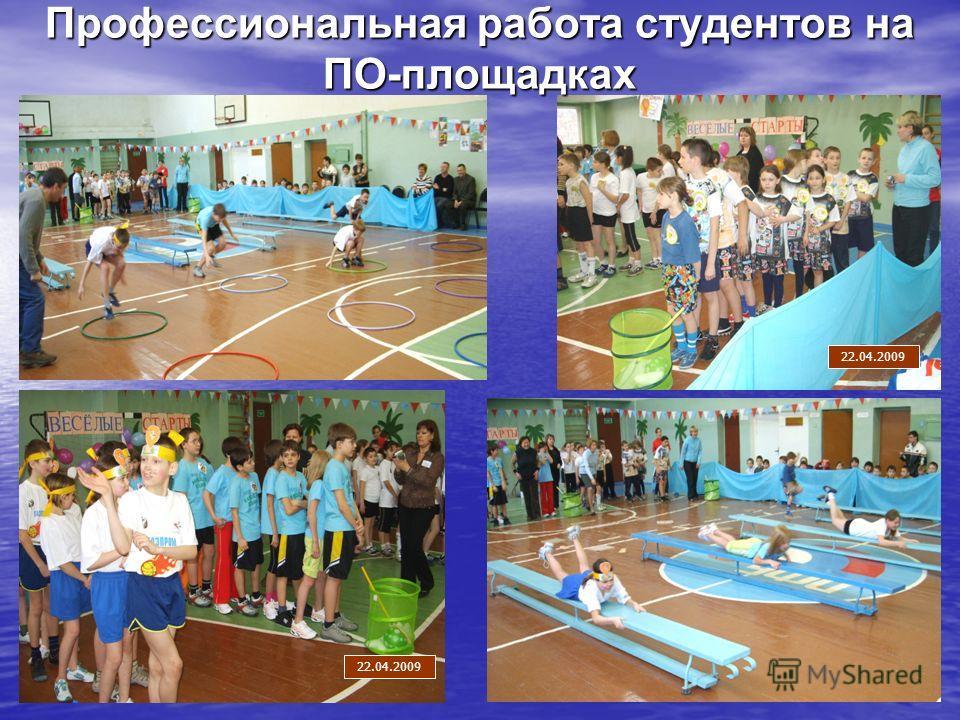 Профессиональная работа студентов на ПО-площадках 22.04.2009