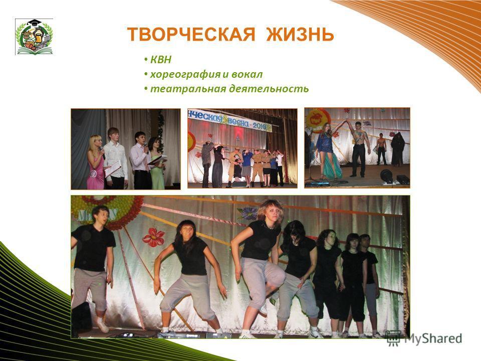ТВОРЧЕСКАЯ ЖИЗНЬ КВН хореография и вокал театральная деятельность