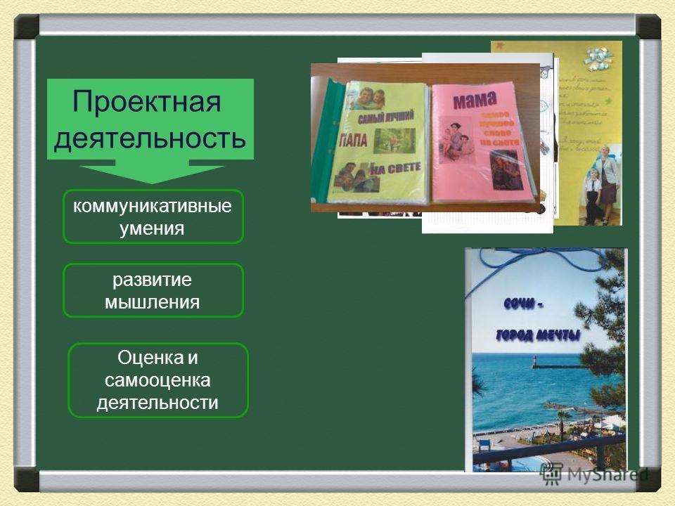 Проектная деятельность коммуникативные умения развитие мышления Оценка и самооценка деятельности