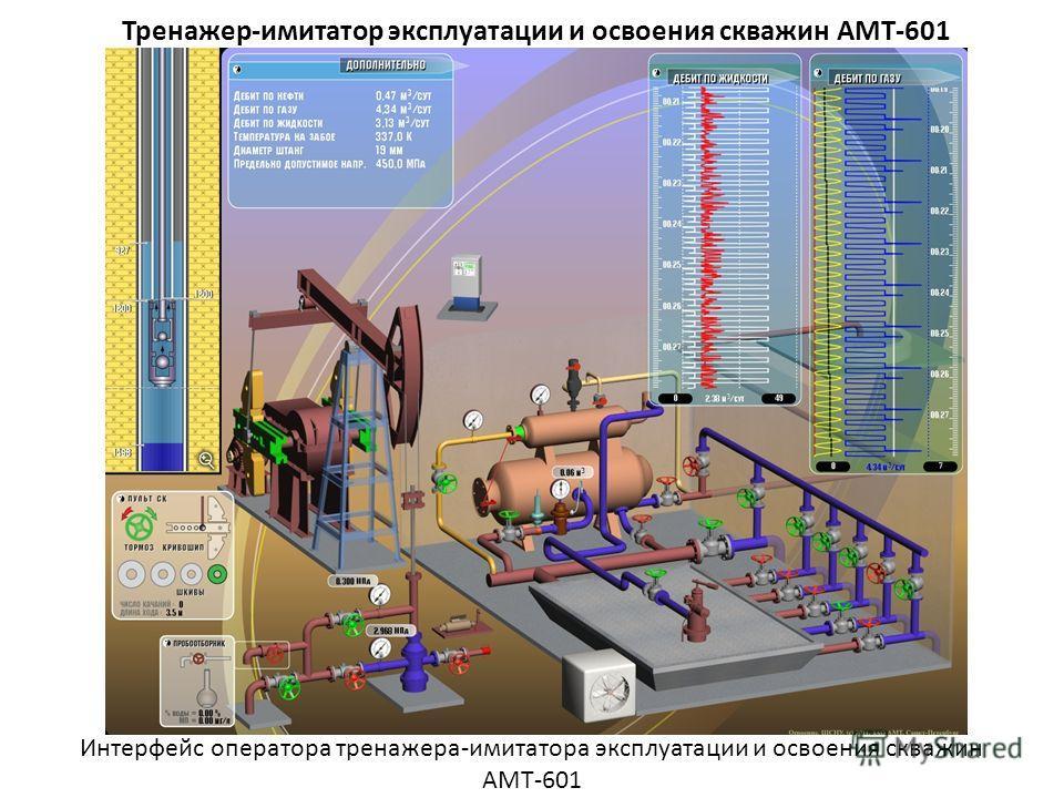 Тренажер-имитатор эксплуатации и освоения скважин АМТ-601 Интерфейс оператора тренажера-имитатора эксплуатации и освоения скважин АМТ-601