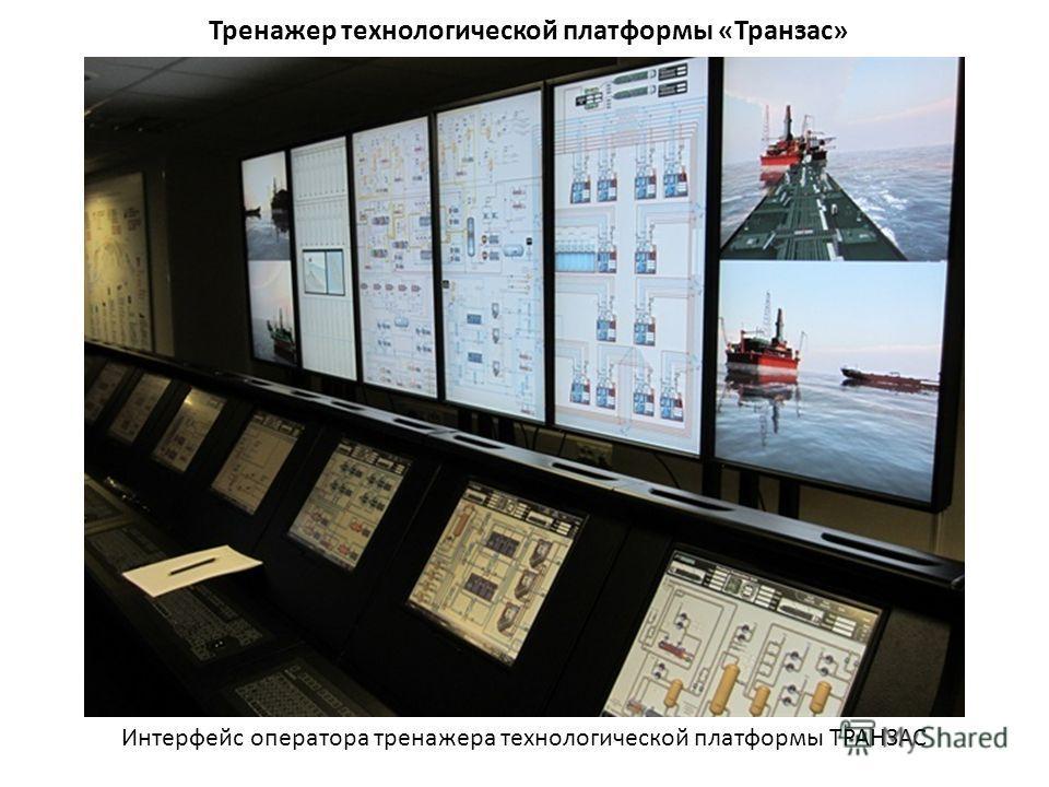 Тренажер технологической платформы «Транзас» Интерфейс оператора тренажера технологической платформы ТРАНЗАС
