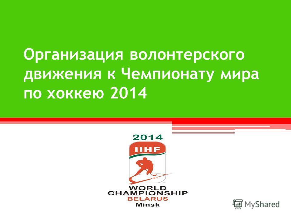 Организация волонтерского движения к Чемпионату мира по хоккею 2014