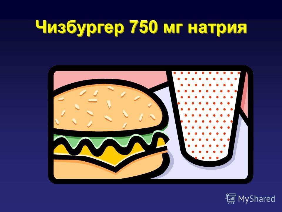 Чизбургер 750 мг натрия