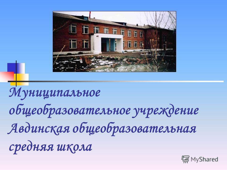 Муниципальное общеобразовательное учреждение Авдинская общеобразовательная средняя школа