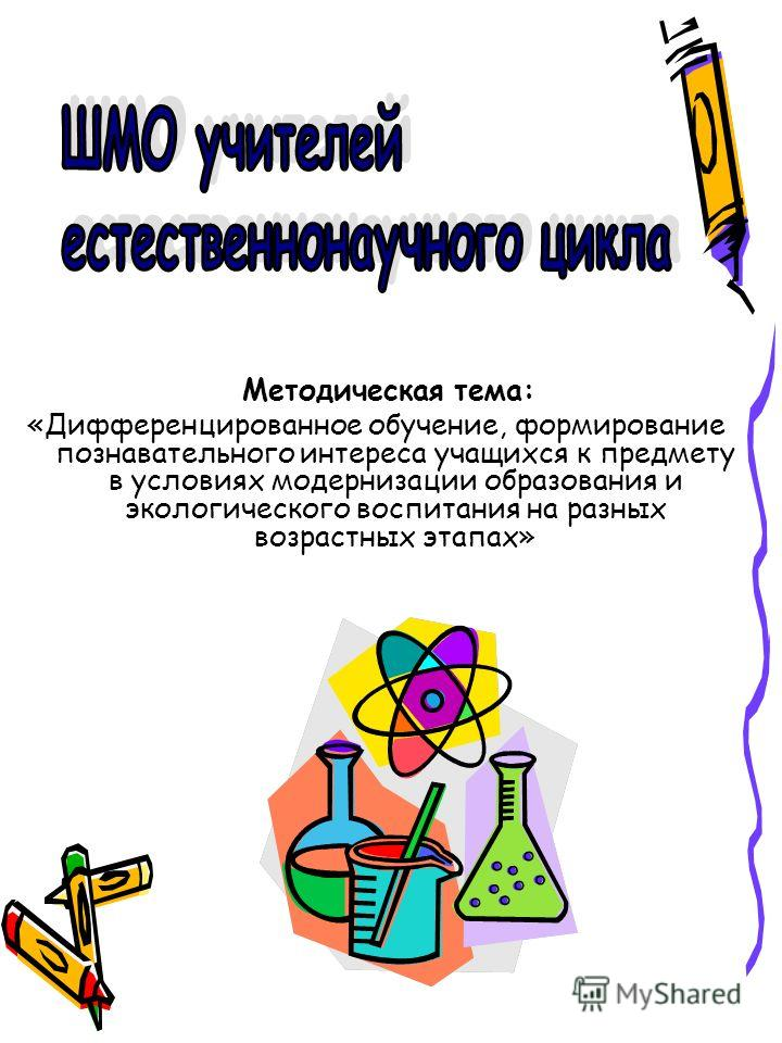 Методическая тема: «Дифференцированное обучение, формирование познавательного интереса учащихся к предмету в условиях модернизации образования и экологического воспитания на разных возрастных этапах»