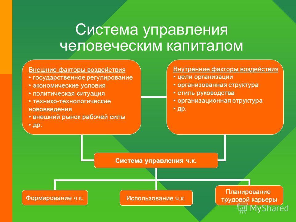 Система управления человеческим капиталом