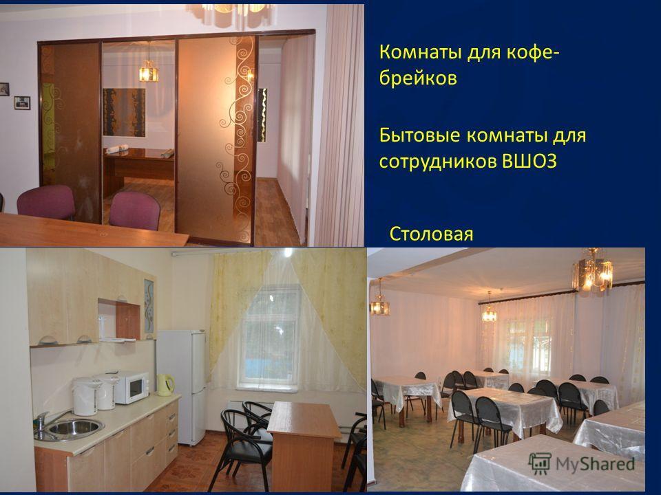 Комнаты для кофе- брейков Бытовые комнаты для сотрудников ВШОЗ Столовая