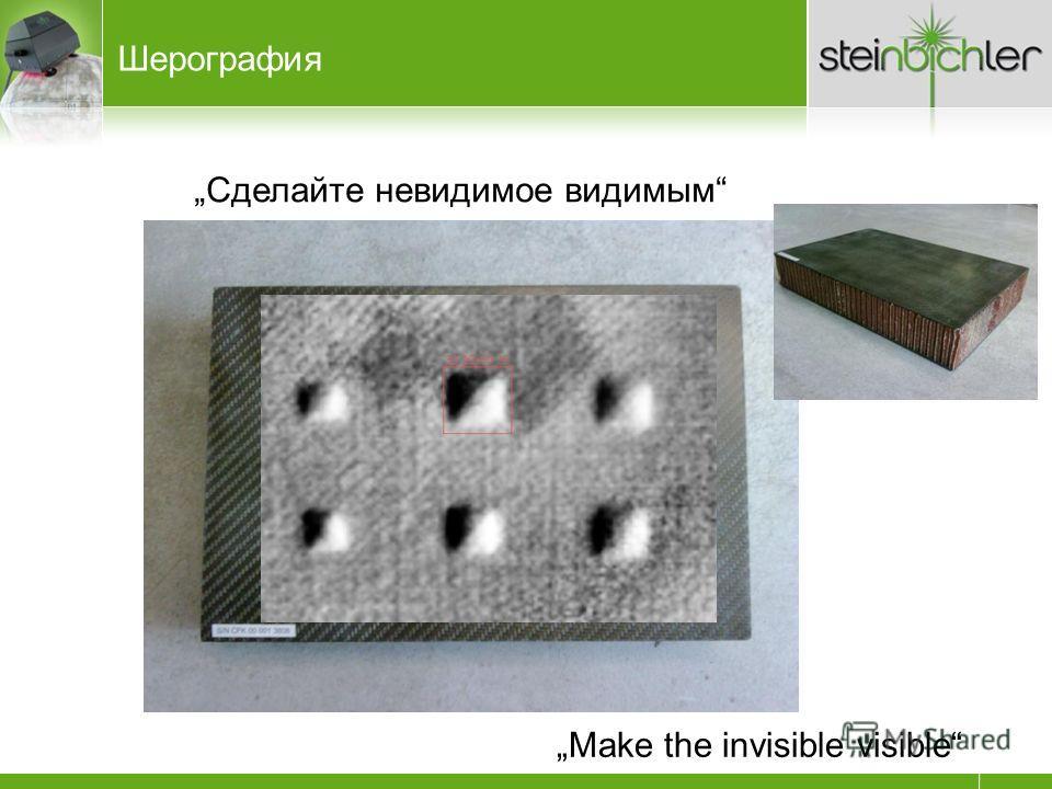 Сделайте невидимое видимым Make the invisible visible Шерография