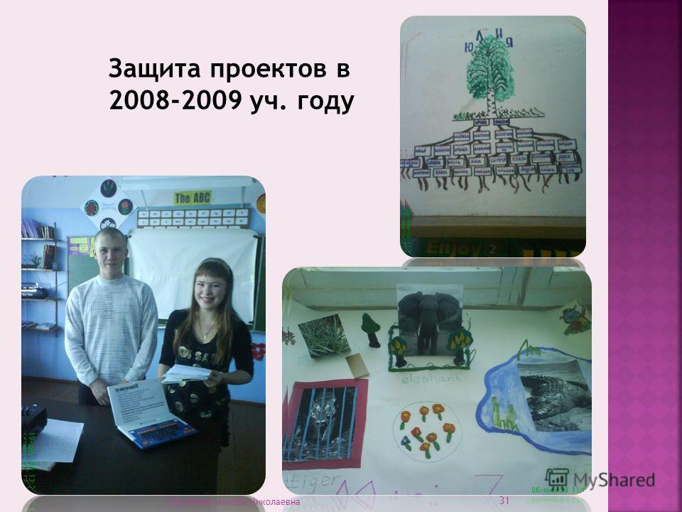 Защита проектов в 2008-2009 уч. году 31 Намятова Анжела Николаевна