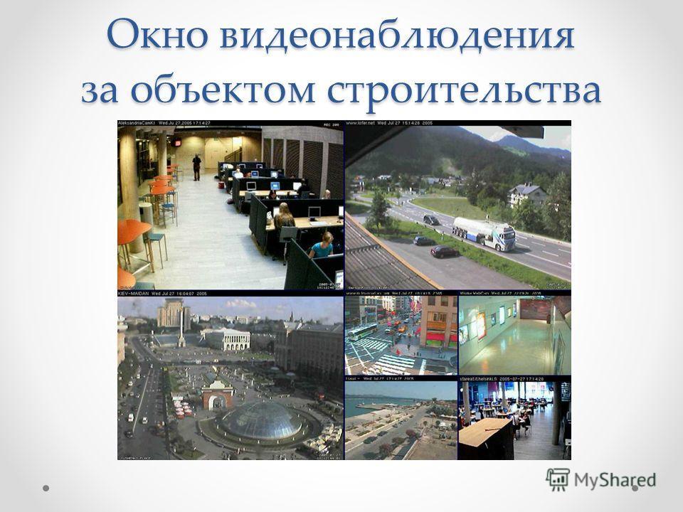 Окно видеонаблюдения за объектом строительства