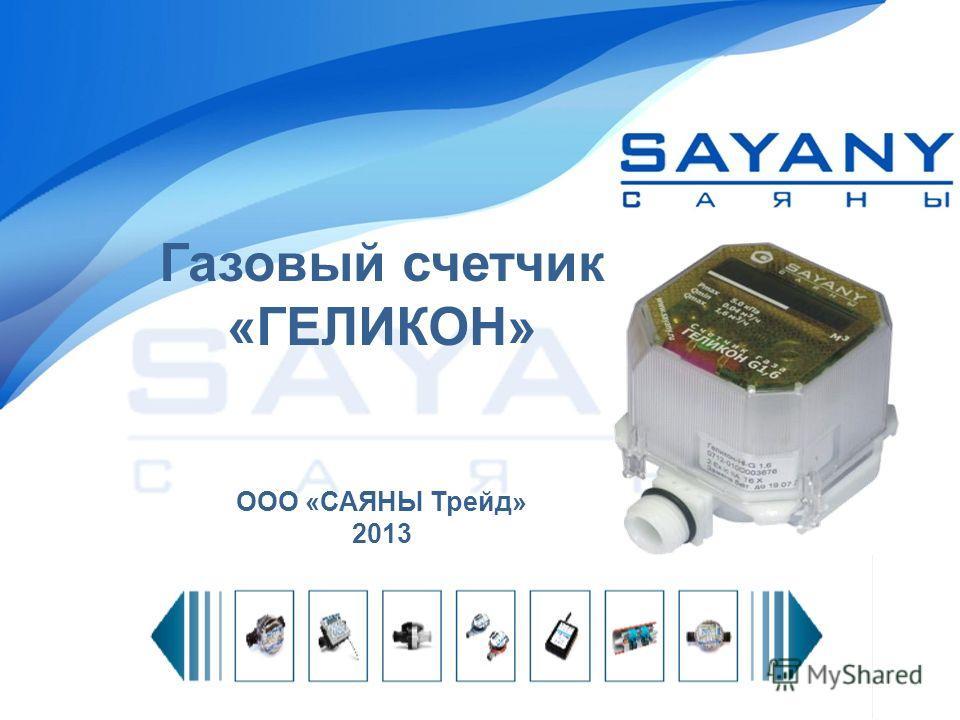 Газовый счетчик «ГЕЛИКОН» ООО «САЯНЫ Трейд» 2013