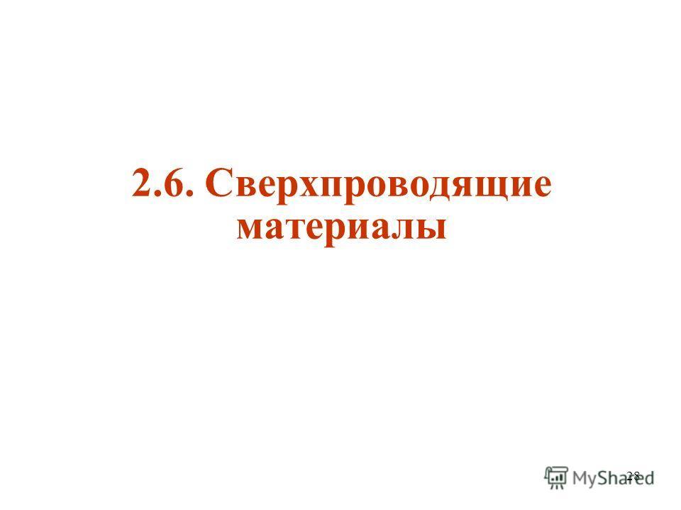 28 2.6. Сверхпроводящие материалы