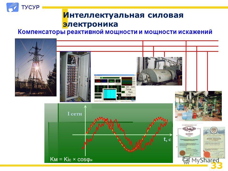 ТУСУР 33 Компенсаторы реактивной мощности и мощности искажений Интеллектуальная силовая электроника