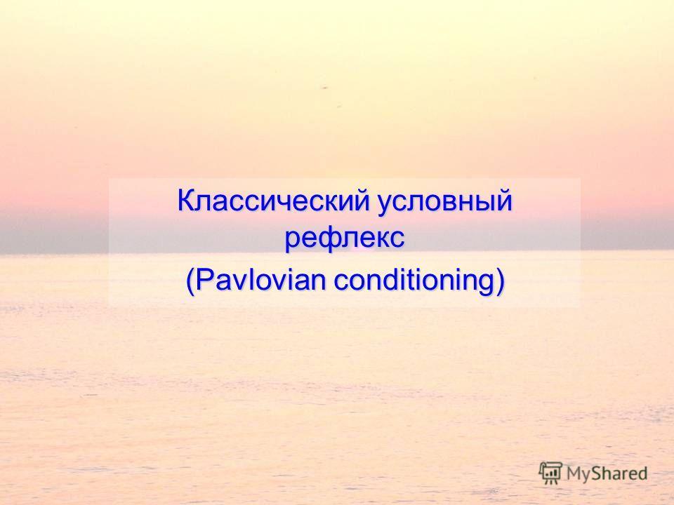 Классический условный рефлекс (Pavlovian conditioning)