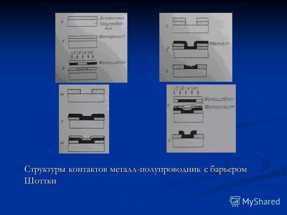 Структуры контактов металл-полупроводник с барьером Шоттки