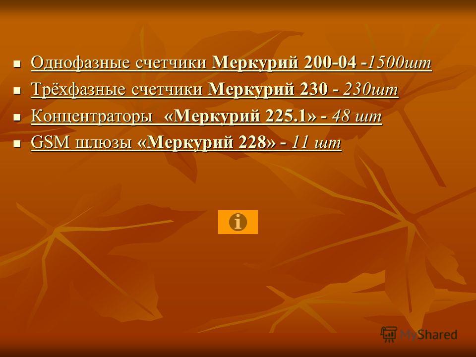 Однофазные счетчики Меркурий 200-04 -1500шт Однофазные счетчики Меркурий 200-04 -1500шт Однофазные счетчики Меркурий 200-04 -1500шт Однофазные счетчики Меркурий 200-04 -1500шт Трёхфазные счетчики Меркурий 230 - 230шт Трёхфазные счетчики Меркурий 230