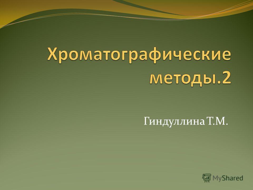 Гиндуллина Т.М.