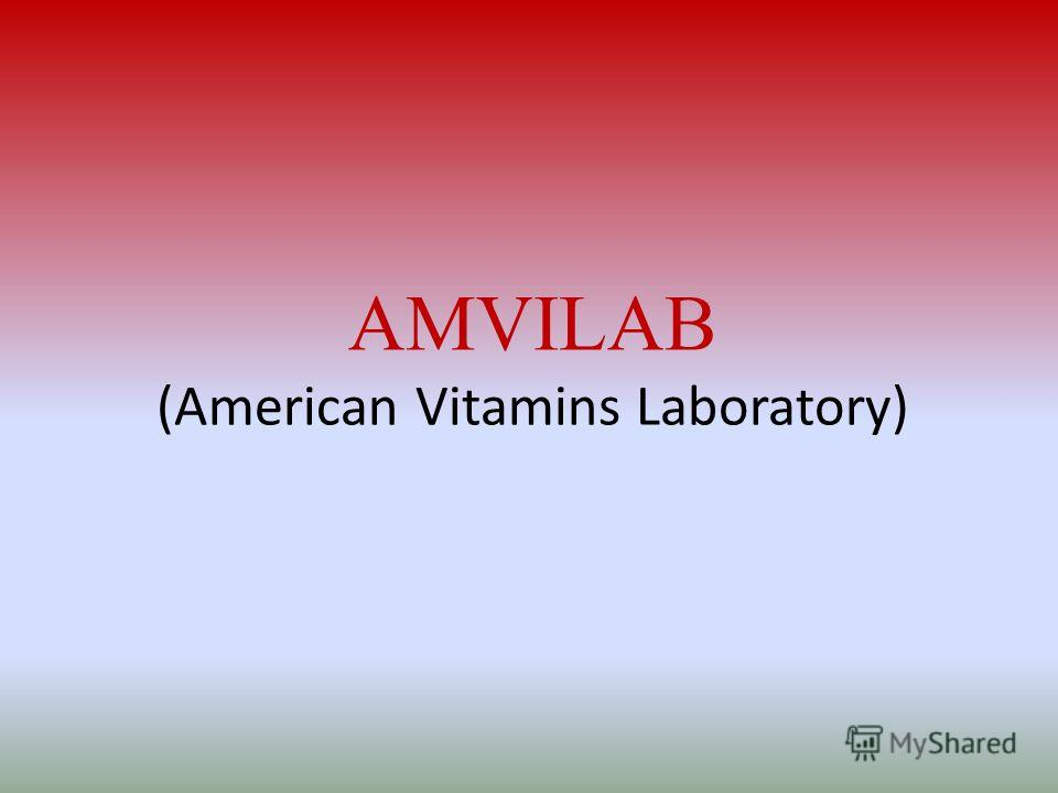AMVILAB (American Vitamins Laboratory)