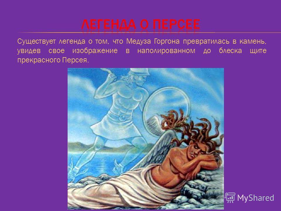 Существует легенда о том, что Медуза Горгона превратилась в камень, увидев свое изображение в наполированном до блеска щите прекрасного Персея.