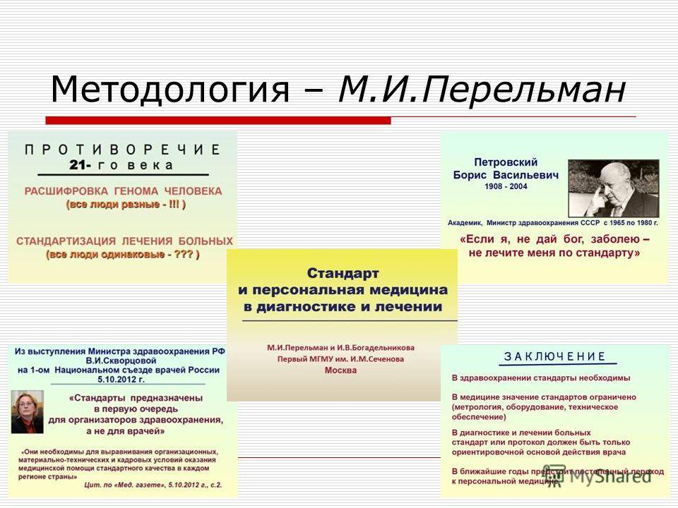Методология – М.И.Перельман