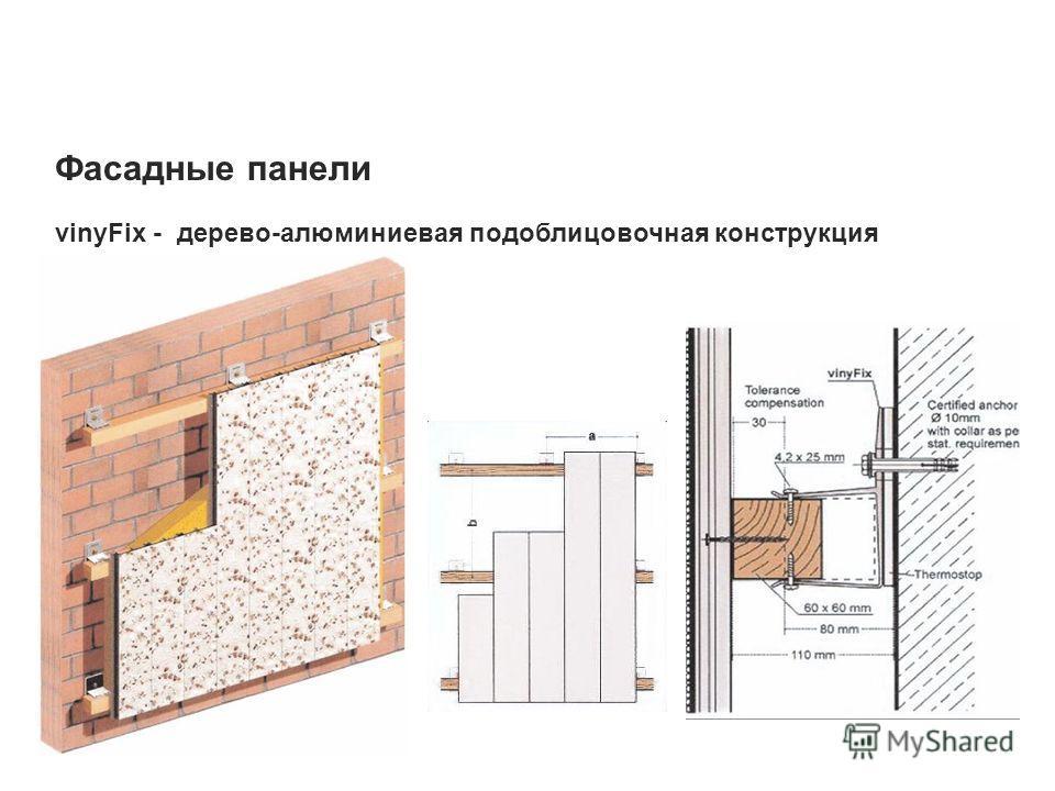Фасадные панели vinyFix - дерево-алюминиевая подоблицовочная конструкция