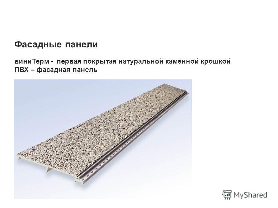 Фасадные панели виниТерм - первая покрытая натуральной каменной крошкой ПВХ – фасадная панель