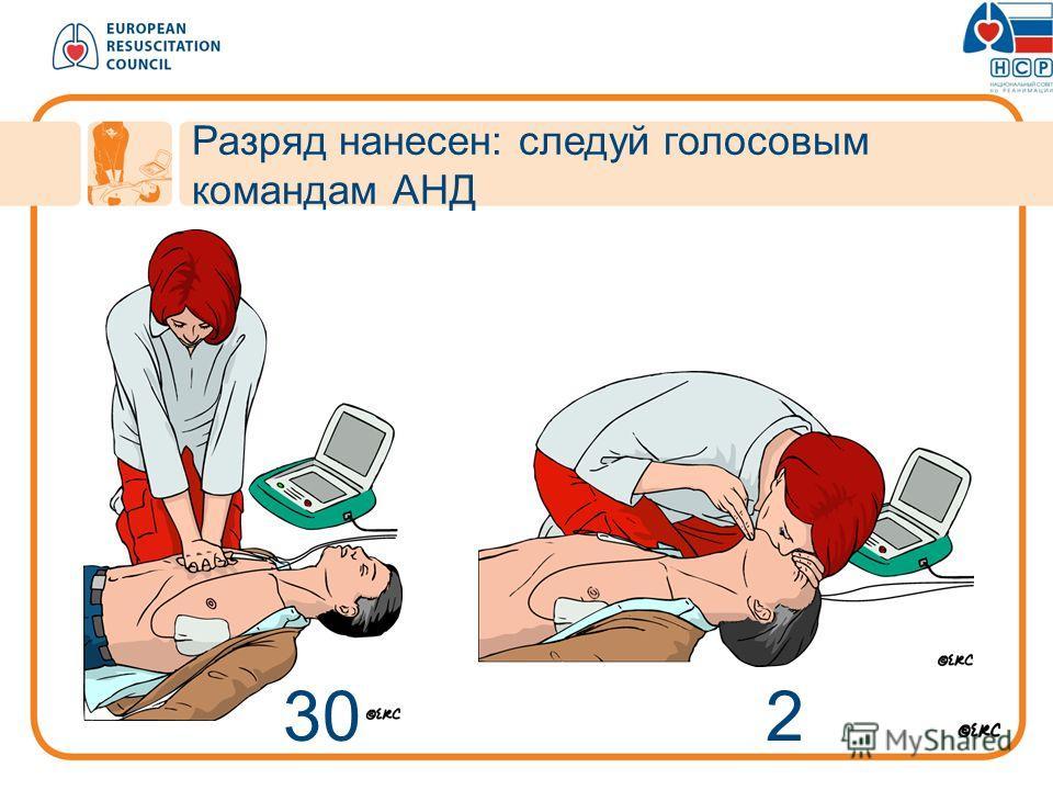 30 2 Разряд нанесен: следуй голосовым командам АНД