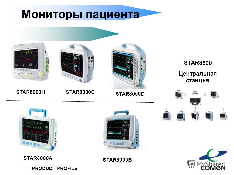 PRODUCT PROFILE STAR8000H STAR8000B STAR8000D STAR8000A STAR8000C STAR8800 Центральная станция Мониторы пациента
