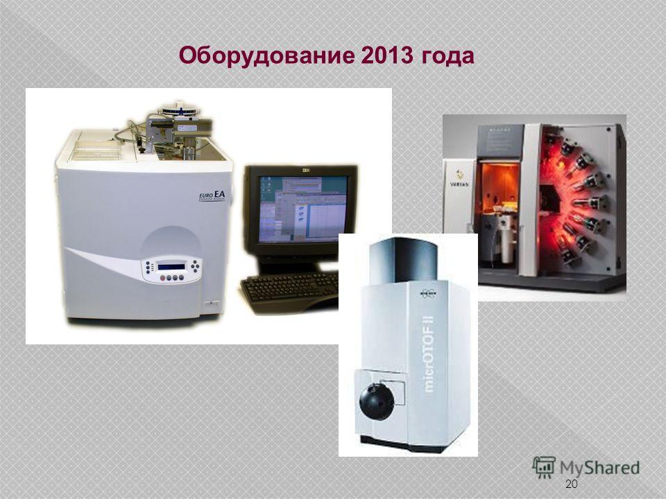 20 Оборудование 2013 года