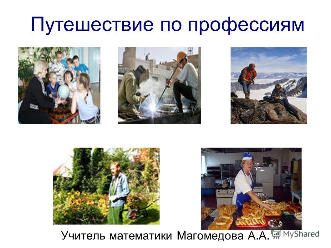 Путешествие по профессиям Учитель математики Магомедова А.А.