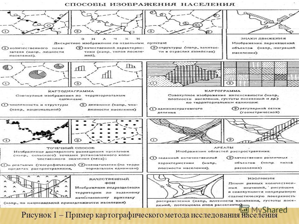 Рисунок 1 – Пример картографического метода исследования населения