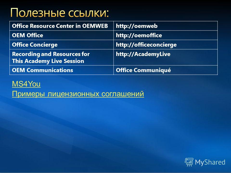 Microsoft Confidential, Do not share outside Microsoft Office Resource Center in OEMWEBhttp://oemweb OEM Officehttp://oemoffice Office Conciergehttp://officeconcierge Recording and Resources for This Academy Live Session http://AcademyLive OEM Commun