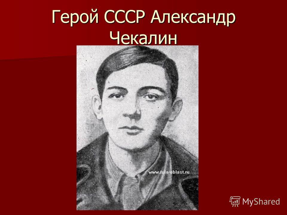 Герой СССР Александр Чекалин
