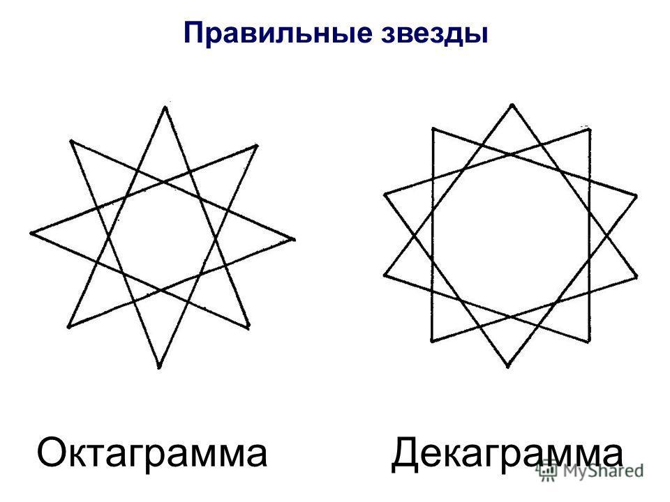 Октаграмма Декаграмма Правильные звезды