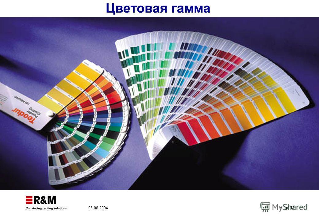 Page 11 05.06.2004 Цветовая гамма