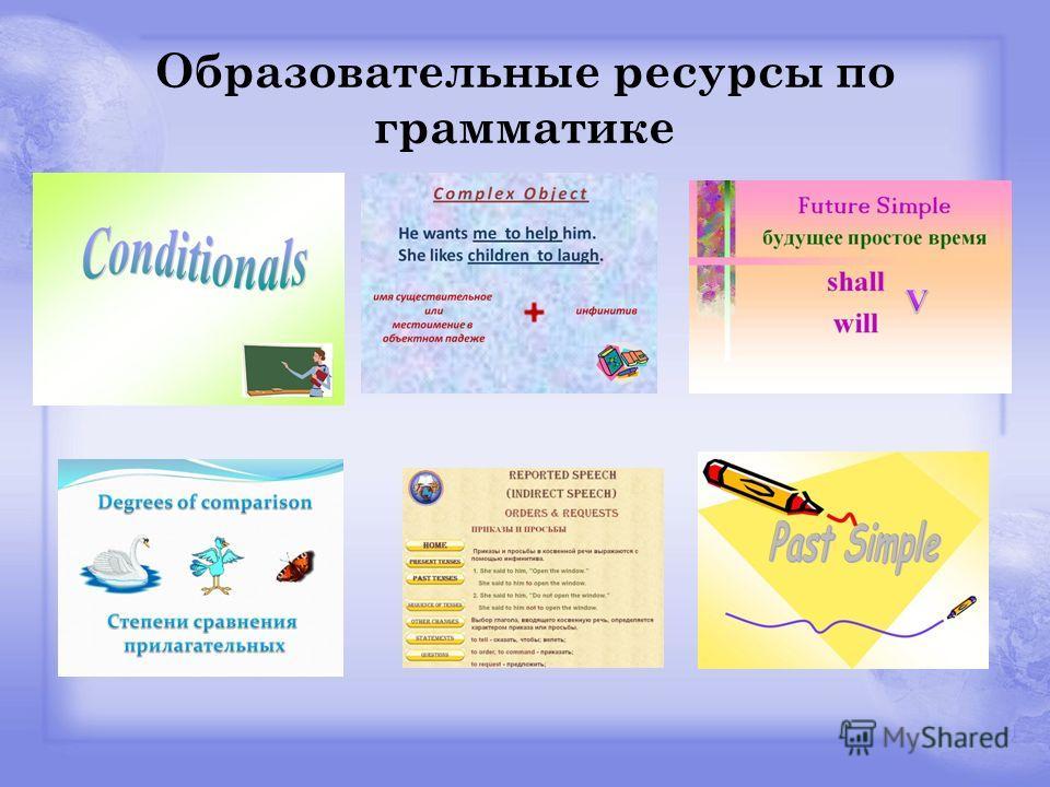 Образовательные ресурсы по грамматике