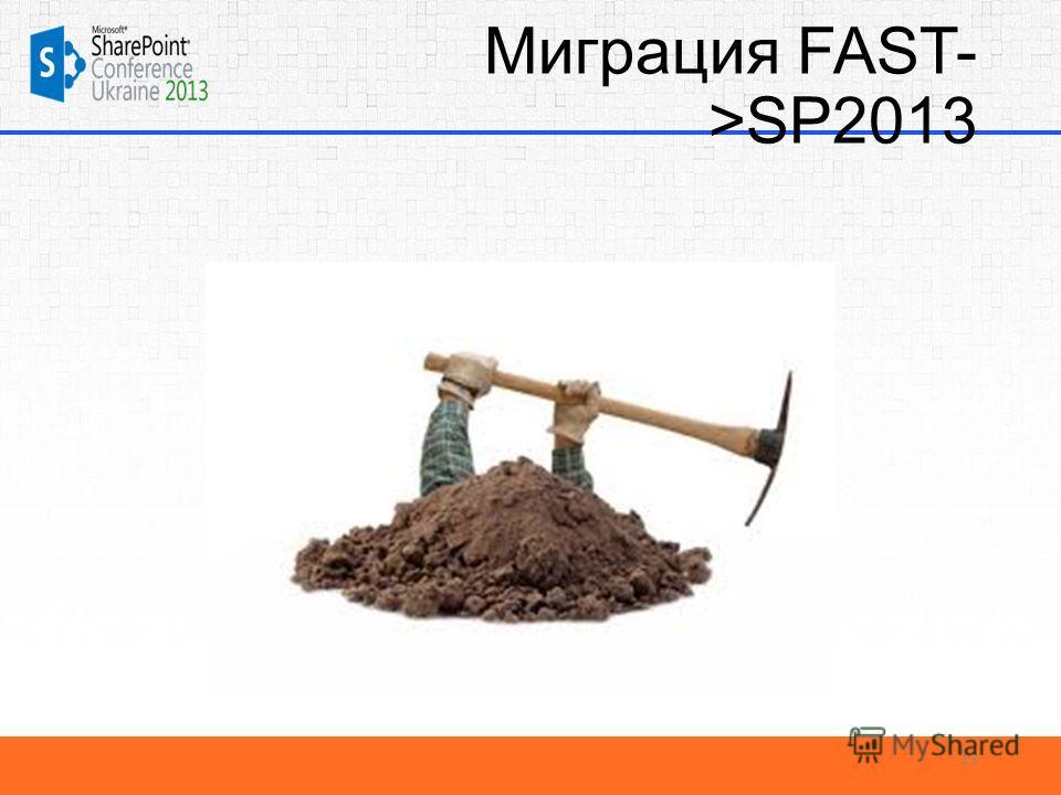 Миграция FAST- >SP2013 13