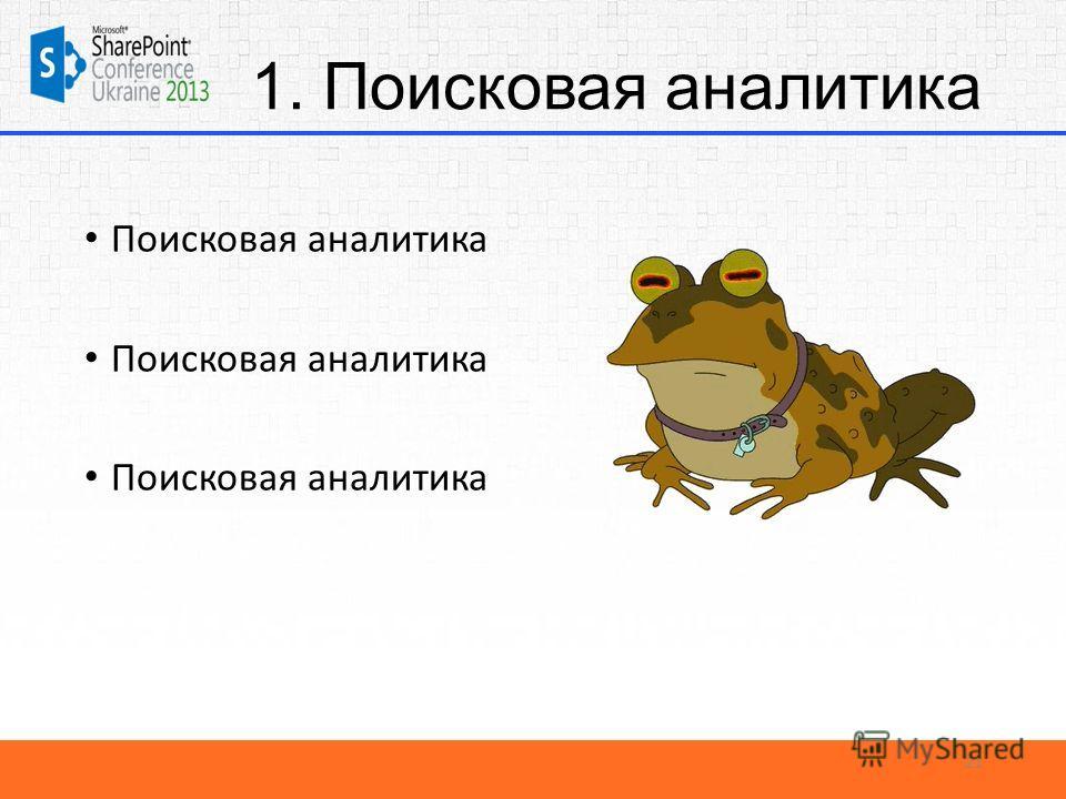 1. Поисковая аналитика Поисковая аналитика 21