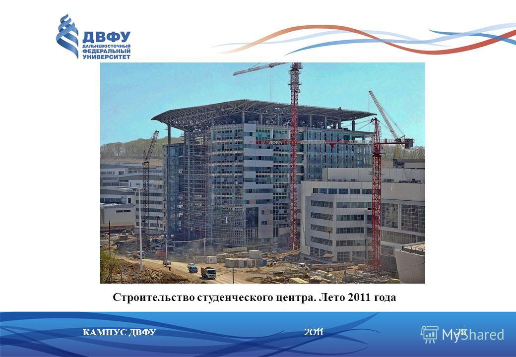 201128КАМПУС ДВФУ Строительство студенческого центра. Лето 2011 года