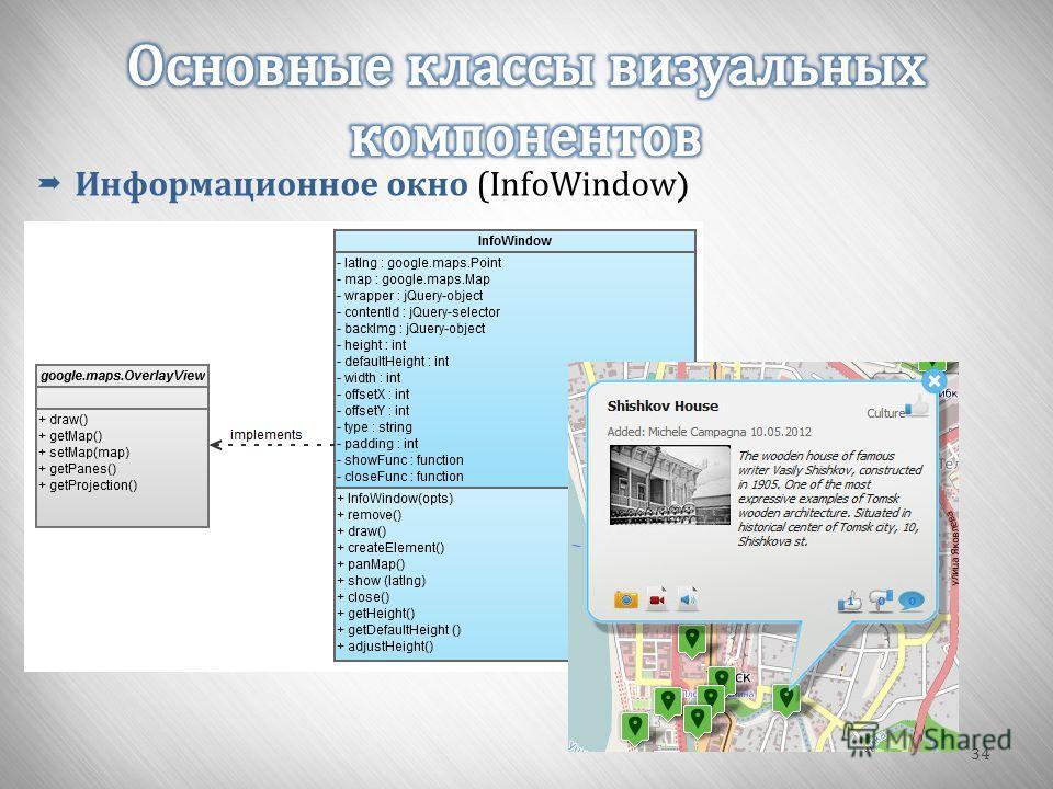 34 Информационное окно ( InfoWindow )