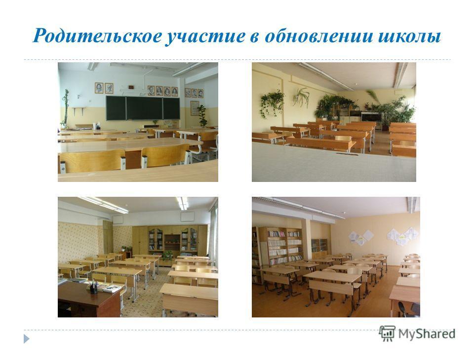 Родительское участие в обновлении школы
