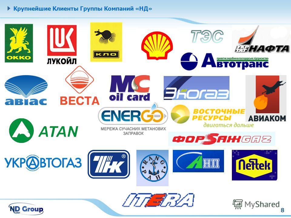 8 Крупнейшие Клиенты Группы Компаний «НД»