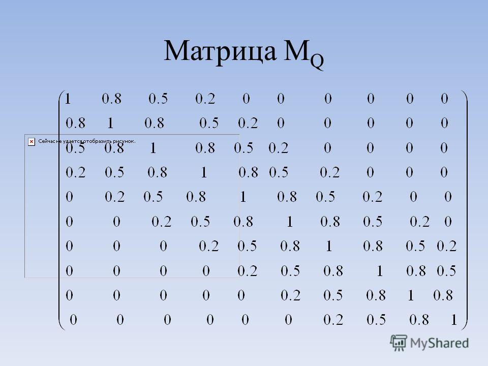 Матрица M Q