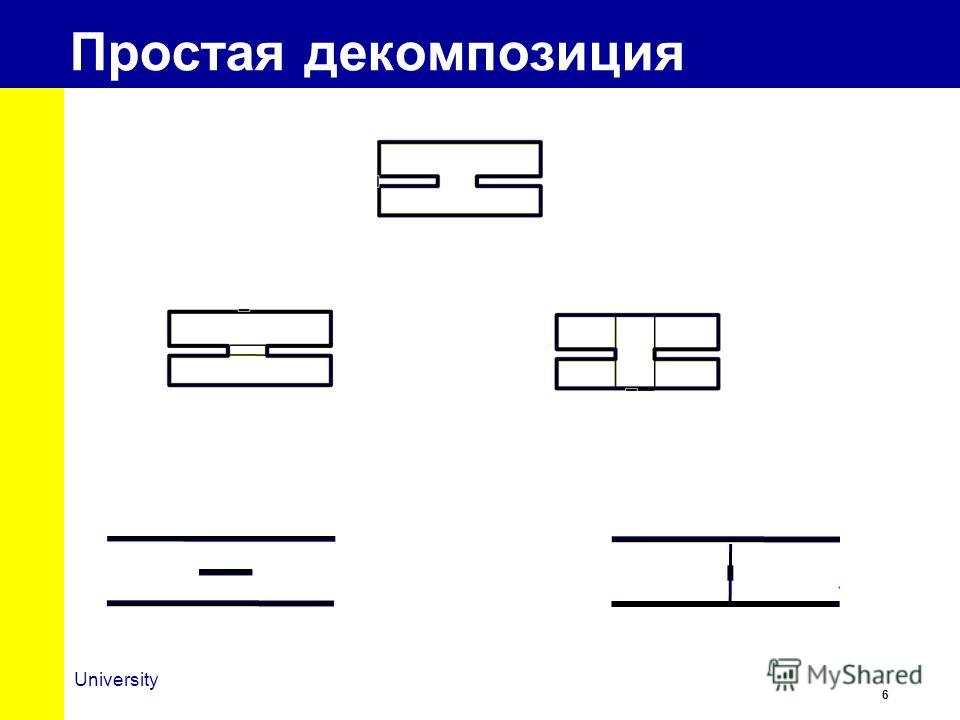 6 University Простая декомпозиция