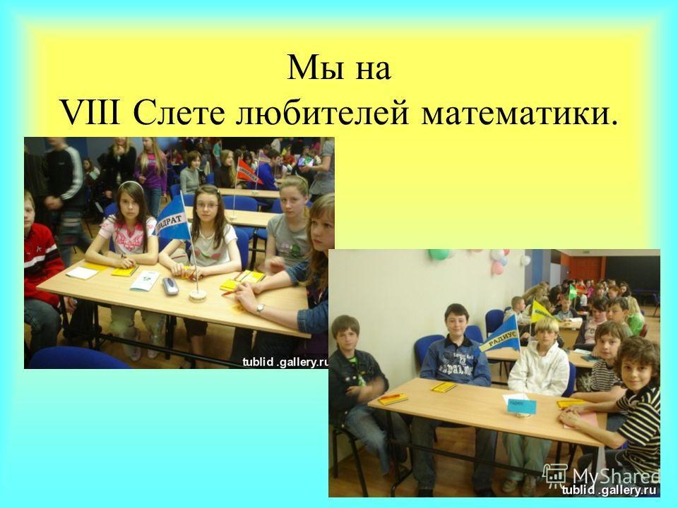 Мы на VIII Слете любителей математики.
