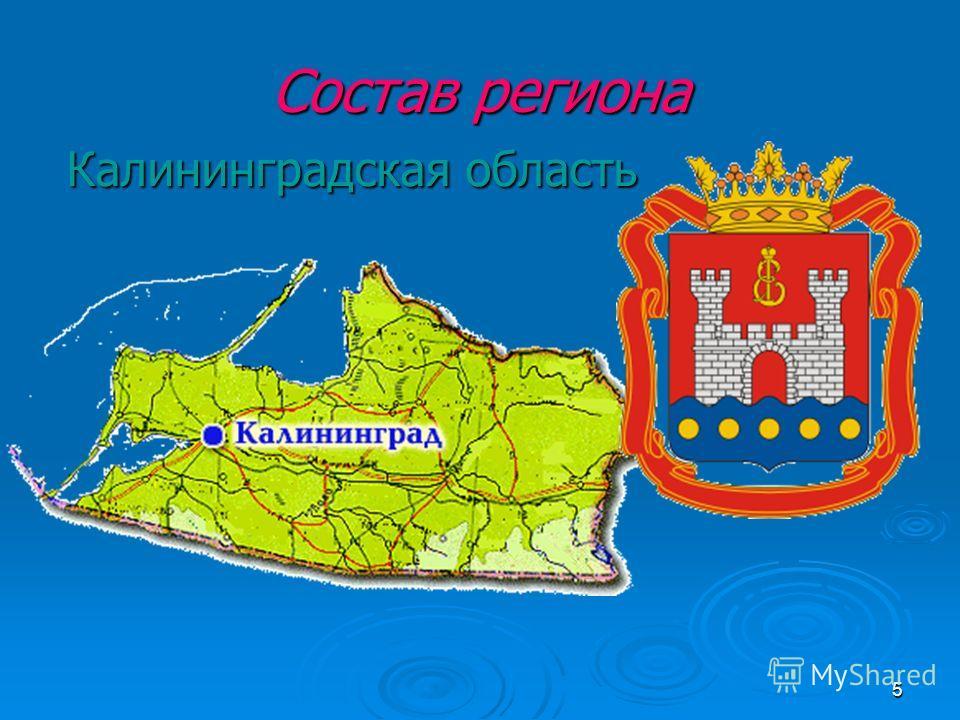 5 Состав региона Калининградская область