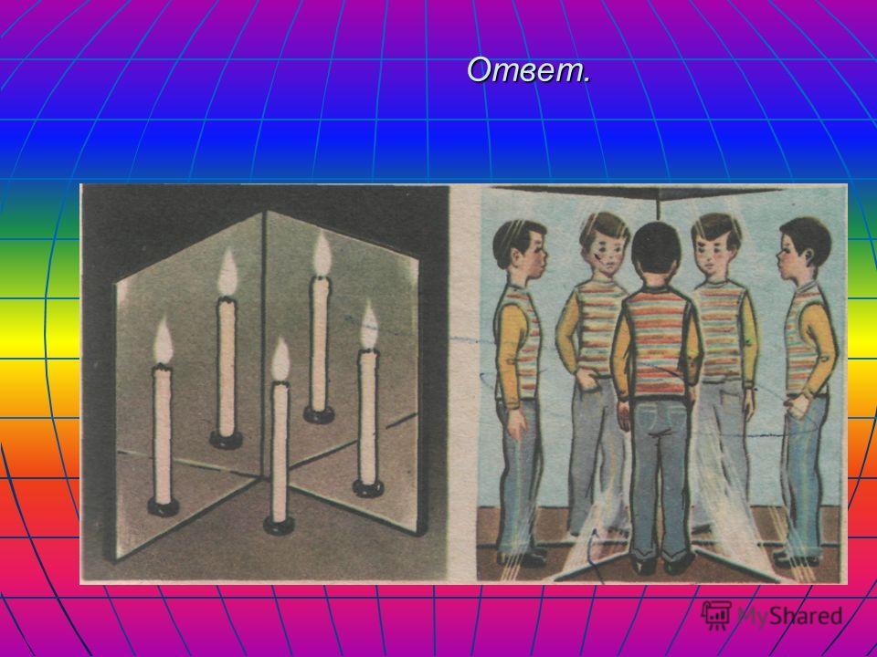 Повторение Какое свойство света показано на рисунке? Как можно получить четыре, три, пять изображений в зеркале? Какое свойство света показано на рисунке? Как можно получить четыре, три, пять изображений в зеркале?