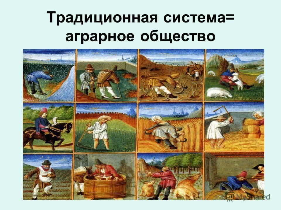 Традиционная система= аграрное общество