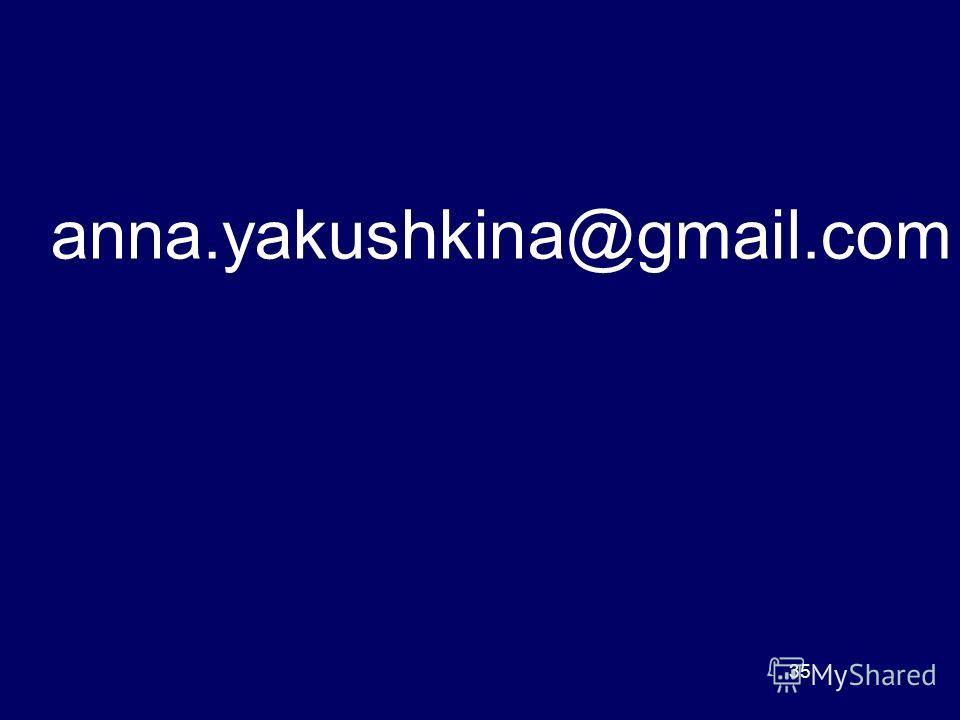 anna.yakushkina@gmail.com 35