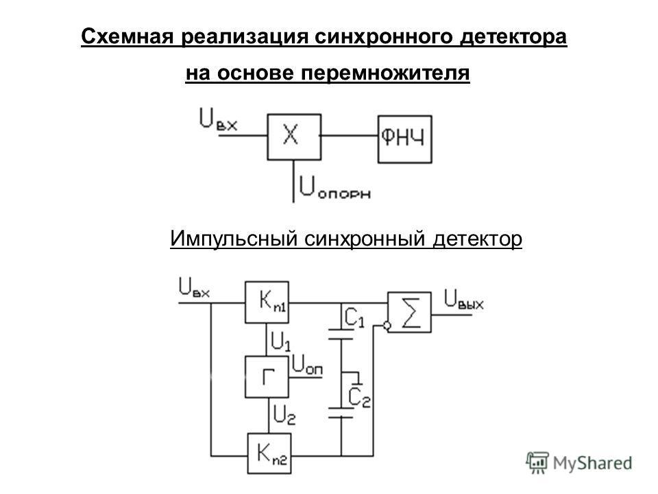 Схемная реализация синхронного детектора на основе перемножителя Импульсный синхронный детектор
